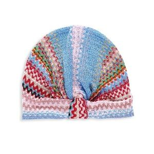 NEW NWT Auth Missoni Chevron Print Turban Hat